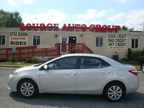 2014 Toyota Corolla for sale at Source Auto Group in Lanham MD