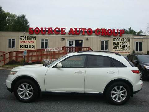 2006 Infiniti FX35 for sale at Source Auto Group in Lanham MD