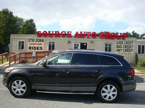 2008 Audi Q7 for sale at Source Auto Group in Lanham MD