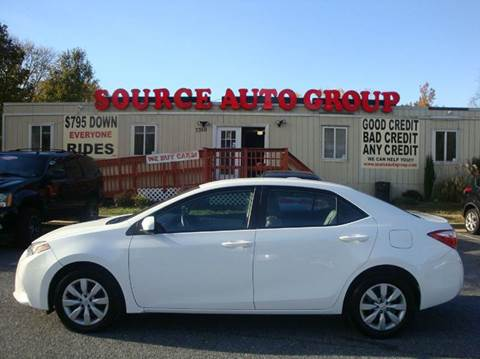2016 Toyota Corolla for sale at Source Auto Group in Lanham MD