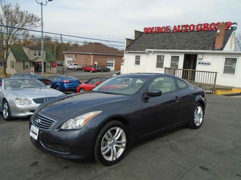 2010 Infiniti G37 Coupe for sale at Source Auto Group in Lanham MD