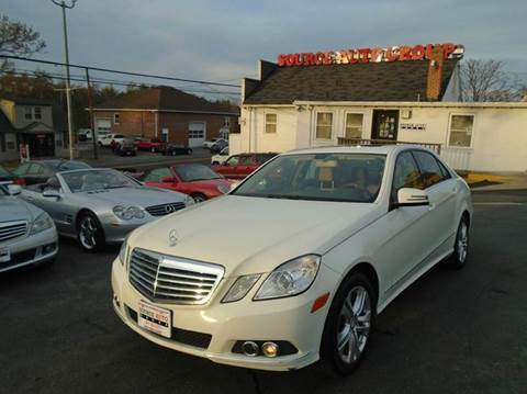 2011 Mercedes-Benz E-Class for sale at Source Auto Group in Lanham MD