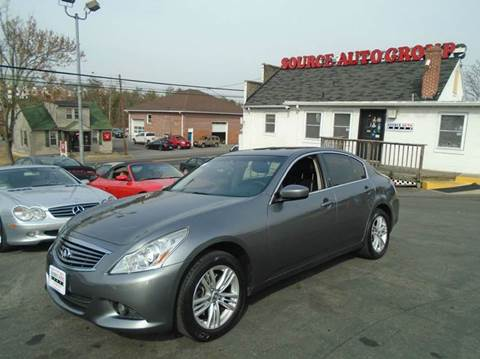 2012 Infiniti G25 Sedan for sale at Source Auto Group in Lanham MD