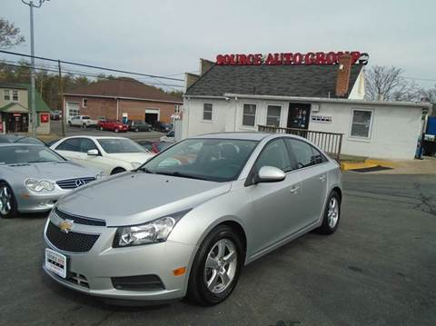 2014 Chevrolet Cruze for sale at Source Auto Group in Lanham MD