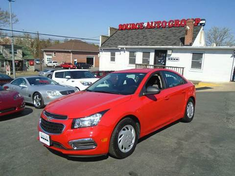 2015 Chevrolet Cruze for sale at Source Auto Group in Lanham MD