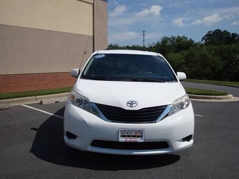 2011 Toyota Sienna for sale at Source Auto Group in Lanham MD