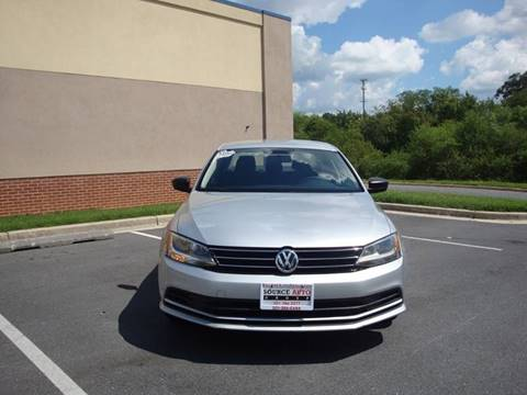 2015 Volkswagen Jetta for sale at Source Auto Group in Lanham MD