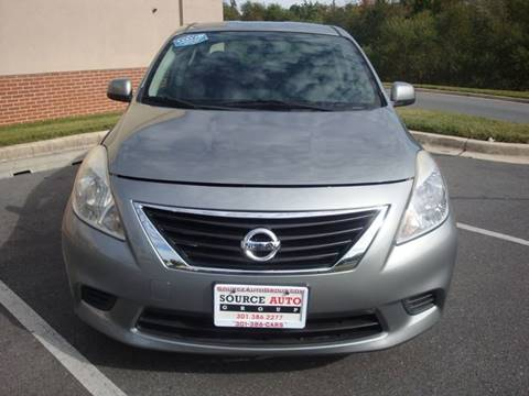 2012 Nissan Versa for sale at Source Auto Group in Lanham MD
