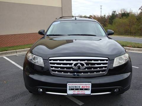2008 Infiniti FX35 for sale at Source Auto Group in Lanham MD