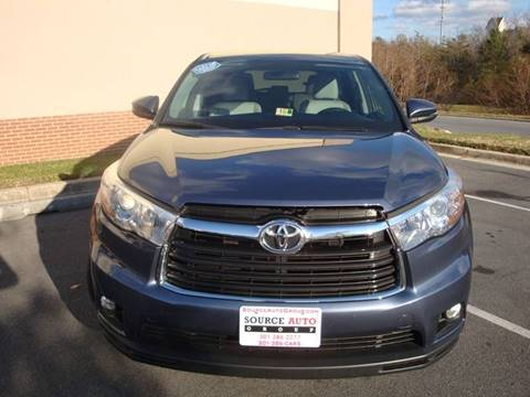 2016 Toyota Highlander for sale at Source Auto Group in Lanham MD