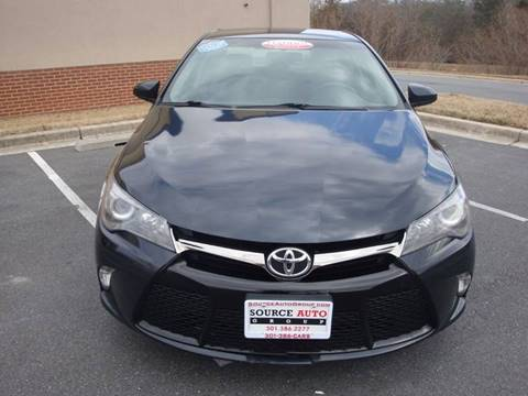 2015 Toyota Camry for sale at Source Auto Group in Lanham MD