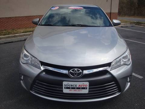 2016 Toyota Camry for sale at Source Auto Group in Lanham MD