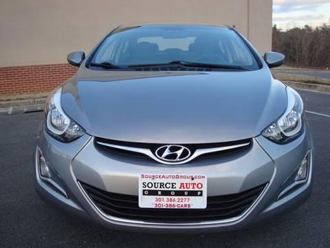 2016 Hyundai Elantra for sale at Source Auto Group in Lanham MD