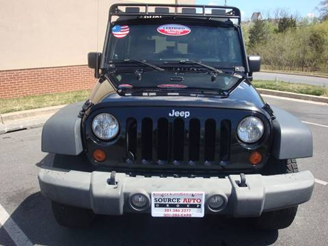 2009 Jeep Wrangler Unlimited for sale at Source Auto Group in Lanham MD
