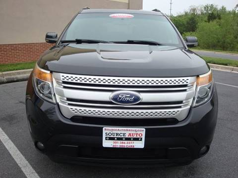 2011 Ford Explorer for sale at Source Auto Group in Lanham MD