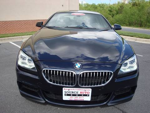 2014 BMW 6 Series for sale at Source Auto Group in Lanham MD