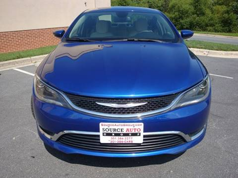 2016 Chrysler 200 for sale at Source Auto Group in Lanham MD
