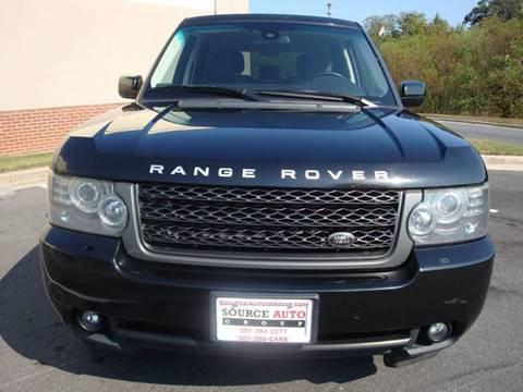 2011 Land Rover Range Rover for sale at Source Auto Group in Lanham MD