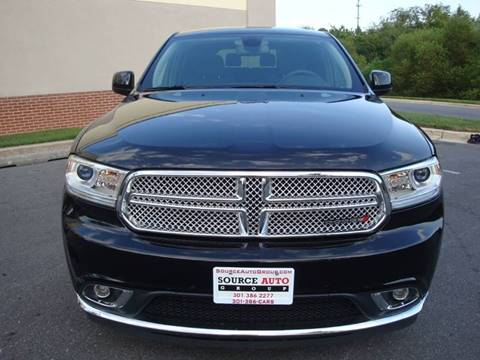 2015 Dodge Durango for sale at Source Auto Group in Lanham MD
