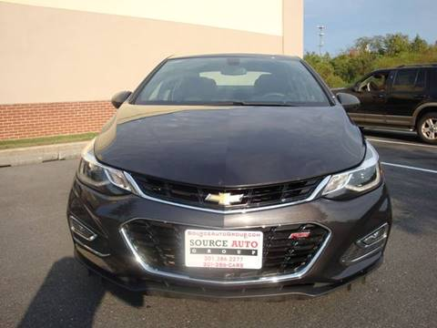 2016 Chevrolet Cruze for sale at Source Auto Group in Lanham MD