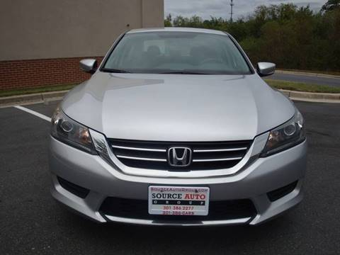 2014 Honda Accord for sale at Source Auto Group in Lanham MD