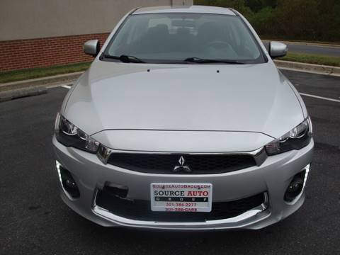 2016 Mitsubishi Lancer for sale at Source Auto Group in Lanham MD
