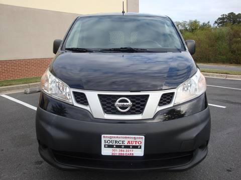 2015 Nissan NV200 for sale at Source Auto Group in Lanham MD