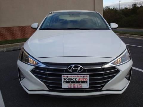 2020 Hyundai Elantra for sale at Source Auto Group in Lanham MD