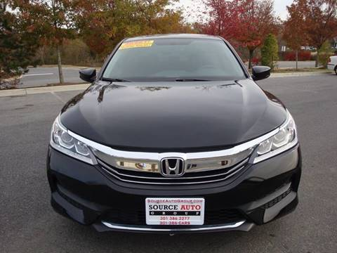 2016 Honda Accord for sale at Source Auto Group in Lanham MD