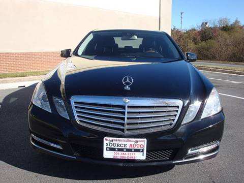 2012 Mercedes-Benz E-Class for sale at Source Auto Group in Lanham MD