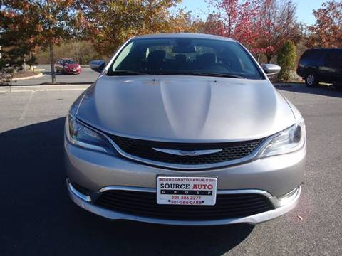 2015 Chrysler 200 for sale at Source Auto Group in Lanham MD