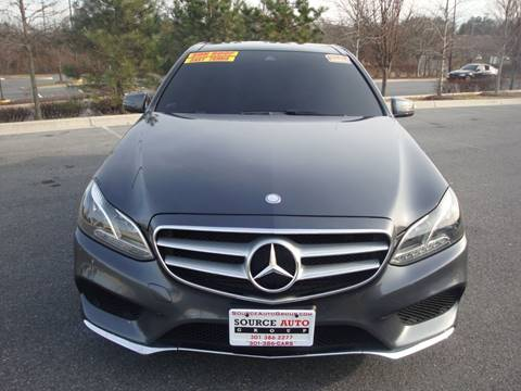 2015 Mercedes-Benz E-Class for sale at Source Auto Group in Lanham MD