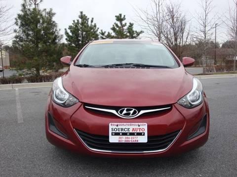 2015 Hyundai Elantra for sale at Source Auto Group in Lanham MD