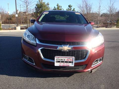 2015 Chevrolet Malibu for sale at Source Auto Group in Lanham MD
