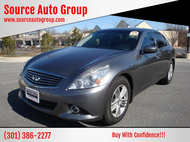 2013 Infiniti G37 Sedan for sale at Source Auto Group in Lanham MD