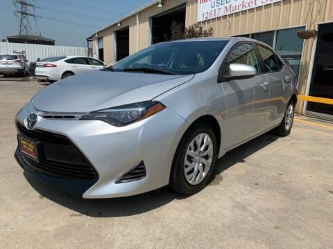 2019 Toyota Corolla LE for sale at Market Street Auto Sales INC in Houston TX
