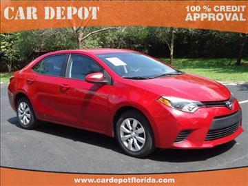 2014 Toyota Corolla for sale in Miramar, FL