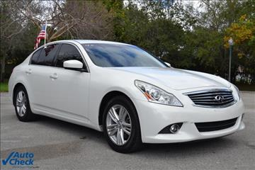 2012 Infiniti G25 Sedan for sale in Miramar, FL