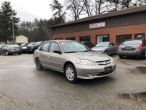 2005 Honda Civic for sale at Official Auto Sales in Plaistow NH