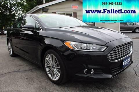 2015 Ford Fusion for sale at Falleti Motors, Inc.  est. 1976 in Batavia NY