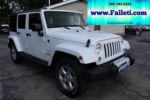 2015 Jeep Wrangler Unlimited for sale at Falleti Motors, Inc.  est. 1976 in Batavia NY