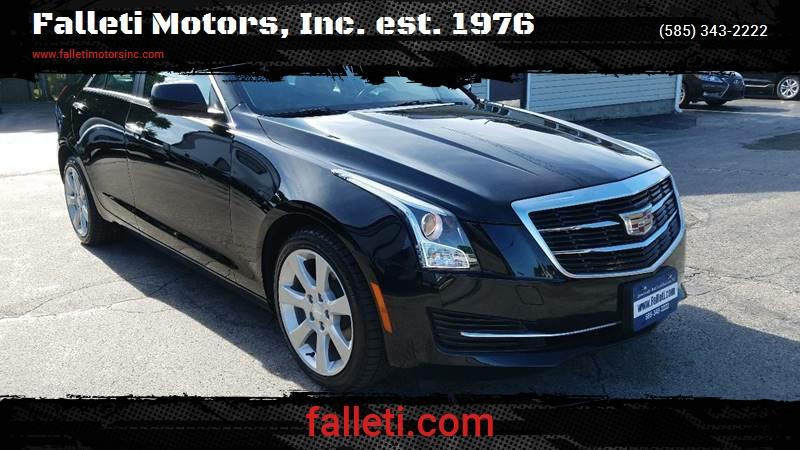 2016 Cadillac Ats 2 0t In Batavia Ny Falleti Motors Inc Est 1976