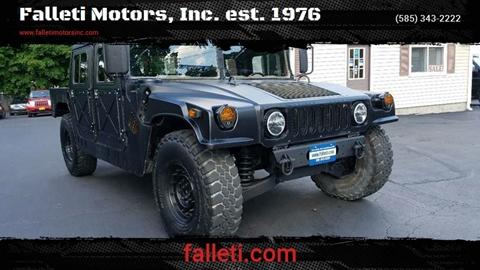 1987 HUMMER H1 for sale at Falleti Motors, Inc.  est. 1976 in Batavia NY