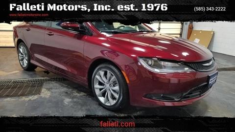2015 Chrysler 200 for sale at Falleti Motors, Inc.  est. 1976 in Batavia NY