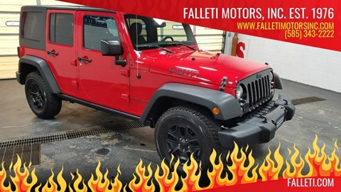 2016 Jeep Wrangler Unlimited for sale at Falleti Motors, Inc.  est. 1976 in Batavia NY