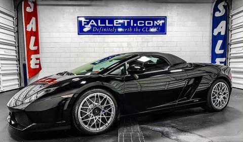 2010 Lamborghini Gallardo LP 560-4 Spyder for sale at Falleti Motors, Inc.  est. 1976 in Batavia NY