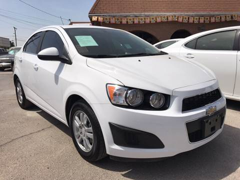 2015 Chevrolet Sonic for sale at Rainbow Motors in El Paso TX