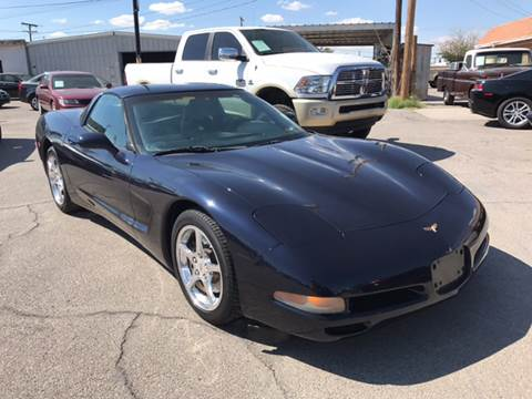 2002 Chevrolet Corvette for sale at Rainbow Motors in El Paso TX