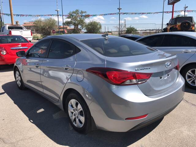 2016 Hyundai Elantra for sale at Rainbow Motors in El Paso TX