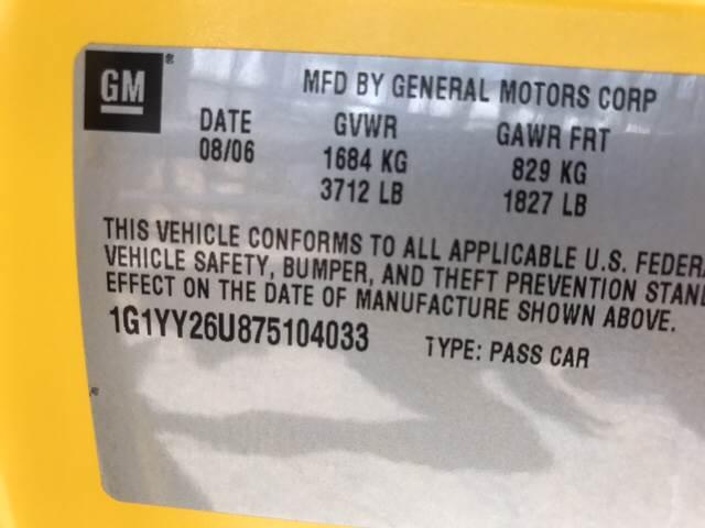 2007 Chevrolet Corvette for sale at Rainbow Motors in El Paso TX